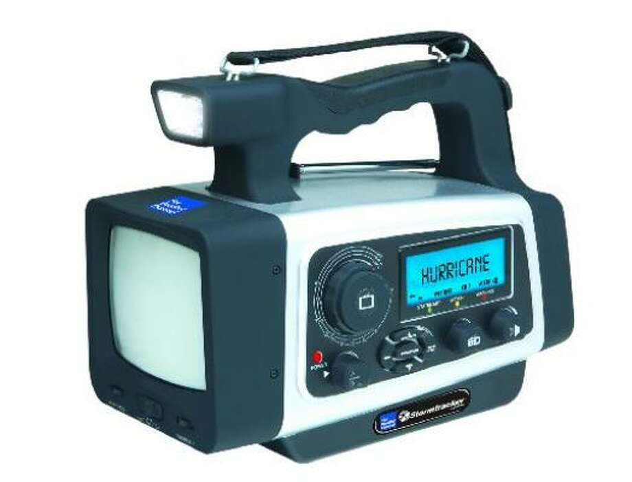 Stormtrackers, such as this one, are compact and versatile, combining hand-crank backup power, TV, AM/FM radio, cell-phone charging and lantern-flashlight products. Photo: Courtesy The Weather Channel/Newport News Daily Press/MCT