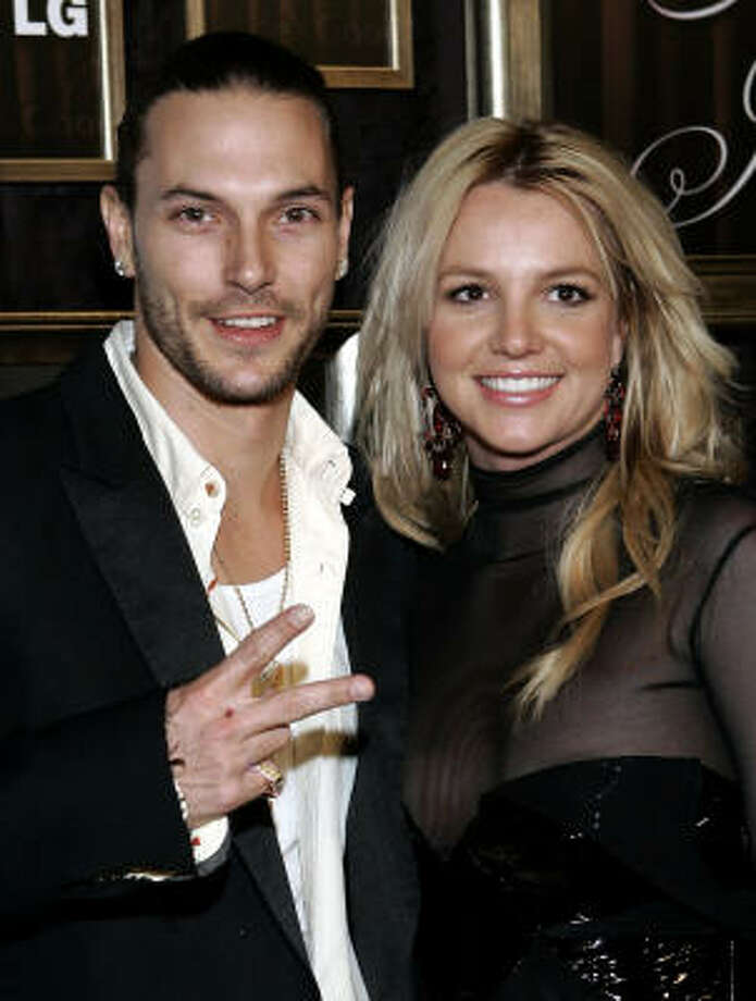 Britney Spears and husband Kevin Federline arrive for a party Feb. 8 in Beverly Hills, Calif. Photo: DANNY MOLOSHOK, Associated Press