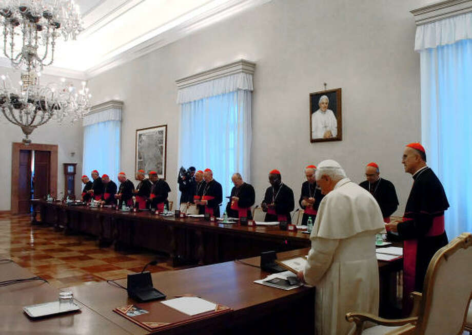 "Pope Benedict XVI and Vatican officials Thursday examined ""the situation created by the disobedience of Monsignor Emmanuel Milingo."" Photo: Handout, AP/L'Osservatore Romano"