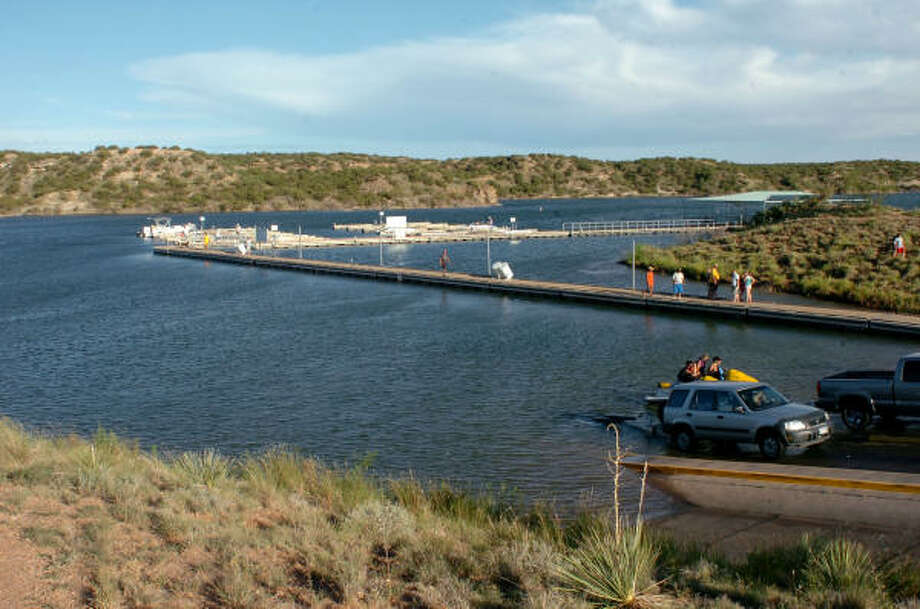 West texas lake goes untapped for its water houston for Fishing spots in houston