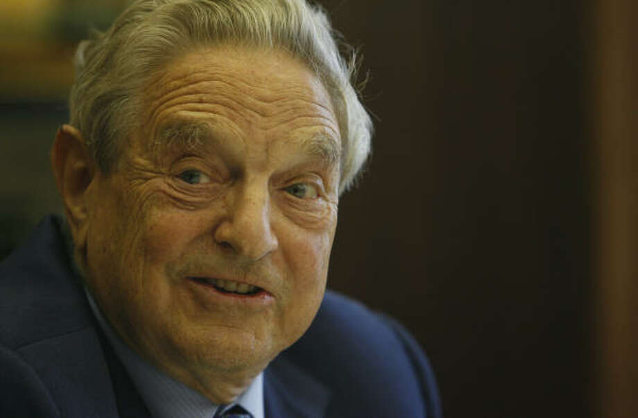 "Financier and philanthropist George Soros is less inclined to attack the Bush administration these days, but views the global war on terror as a ""mess."" Photo: Carlos Antonio Rios, Chronicle"