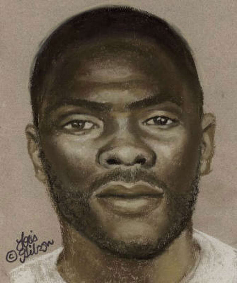 This a police sketch of the suspect. The girl described her attacker as  about 5