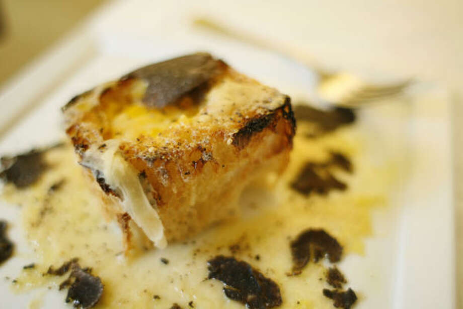 Marco Wiles, chef and owner of  Da Marco restaurant, created Truffle Toast & Egg with fresh black truffles. Photo: Nick De La Torre, CHRONICLE