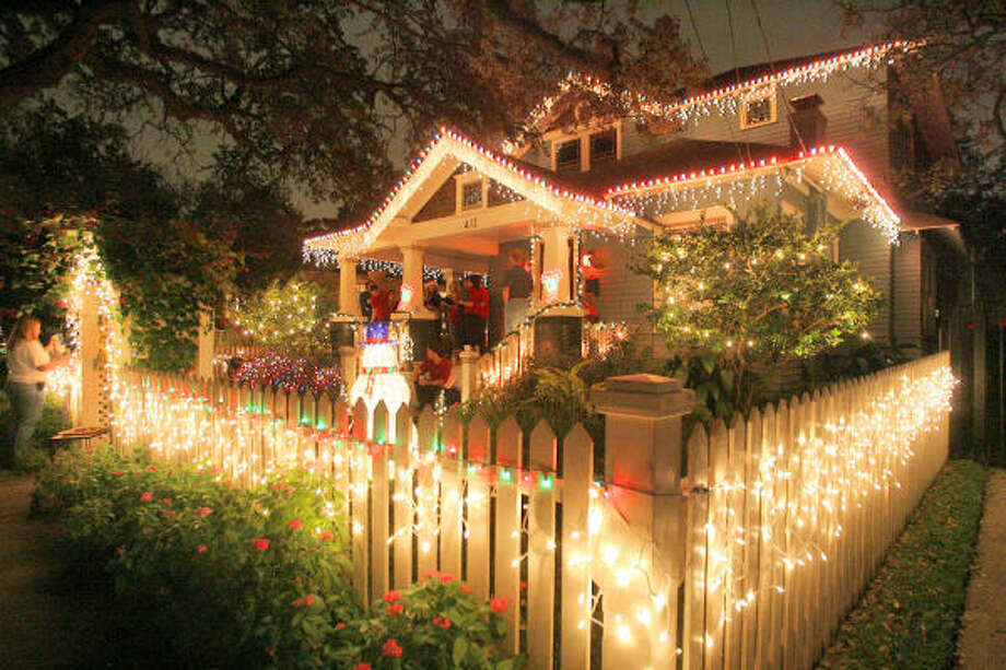 Homes in Houston's historic Heights shine every year for Lights in the Heights. Photo: Bill Olive, For The Chronicle