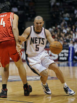 Two days after missing a game with a migraine, Jason Kidd was back on the court for the 96-89 loss to the visiting Rockets. Kidd said his unresolved contract situation had nothing to do with him missing a loss to the New York Knicks. Photo: Bill Kostroun, AP