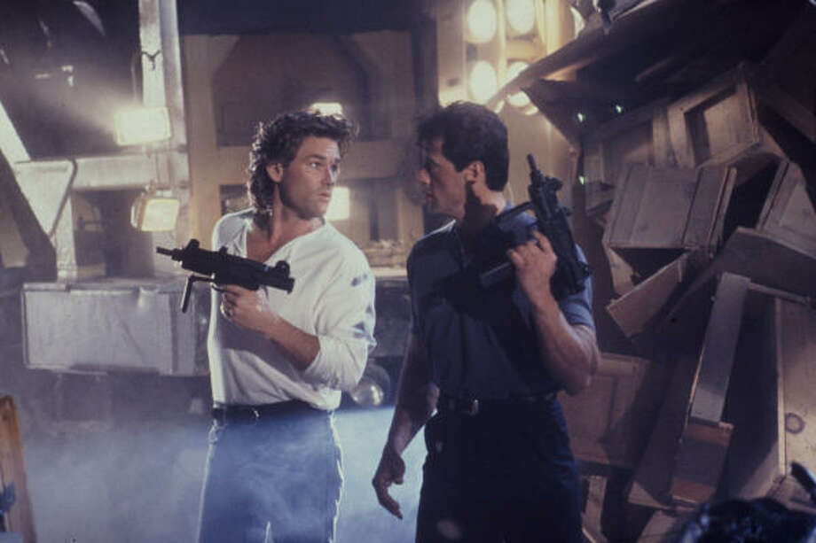 TANGO & CASH (1989): Kurt Russell and Sylvester Stallone are rival cops forced to work together. Photo: Warner Bros.