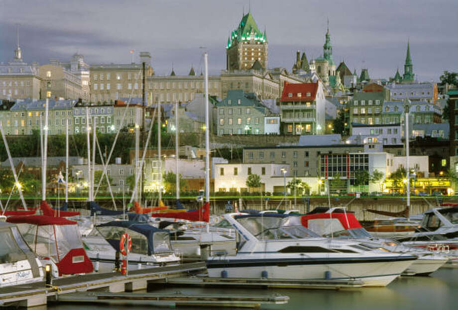 A view of the Old Port and Old Quebec. Photo: LUC ANTOINE, Associated Press