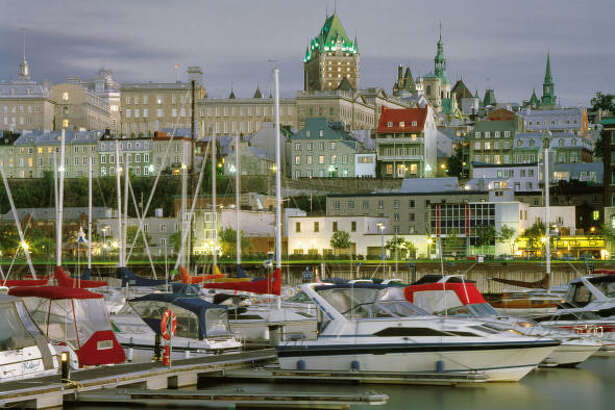 A view of the Old Port and Old Quebec.