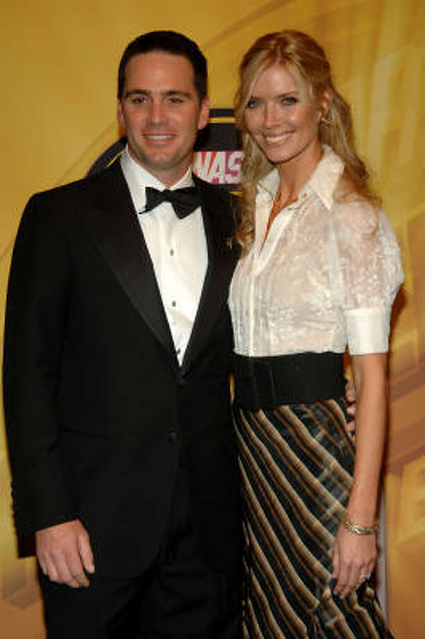 Jimmie Johnson Left The 2007 Nextel Cup Champion And His Wife