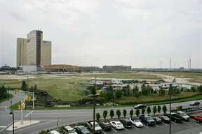 MGM Mirage has said it will spend up to $5 billion to build the MGM Grand Atlantic City on the 72-acre site next to the Borgata Hotel Casino & Spa, seen in the background.