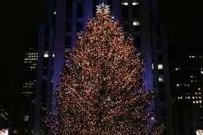 The Rockefeller Center Christmas tree in New York.