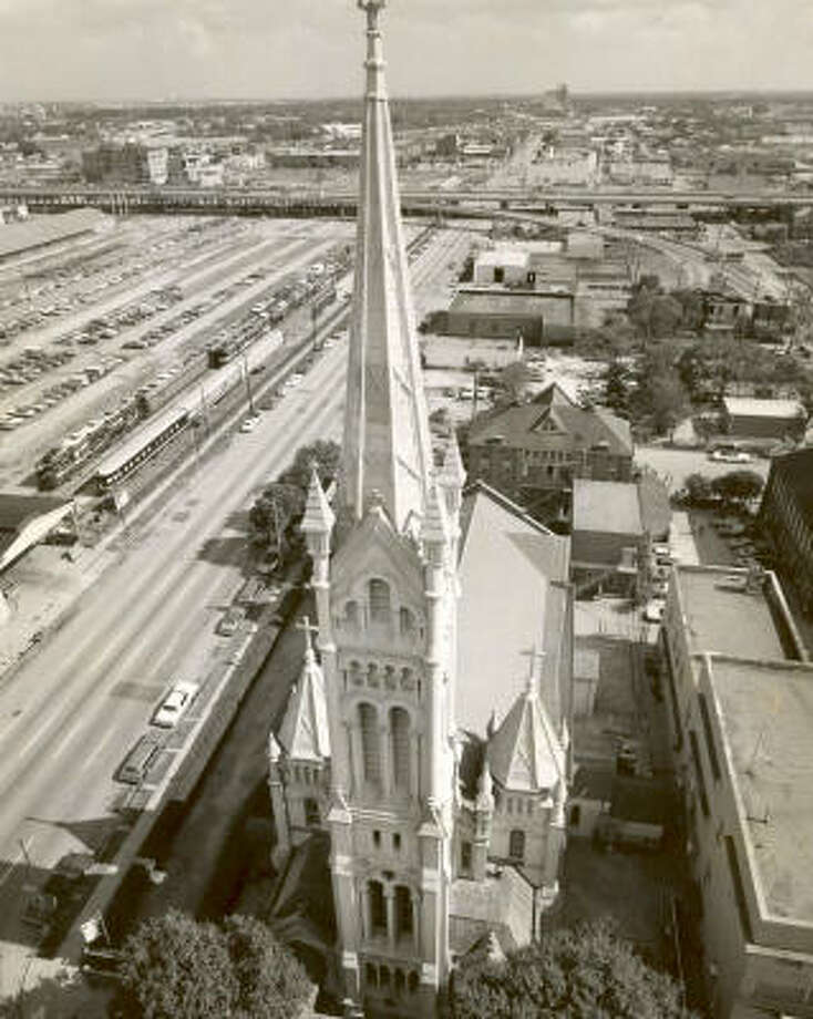 Annunciation Roman Catholic Church is pictured at 1618 Texas. The cornerstone of the church was laid April 25, 1869. Photo: DAVID NANCE, CHRONICLE