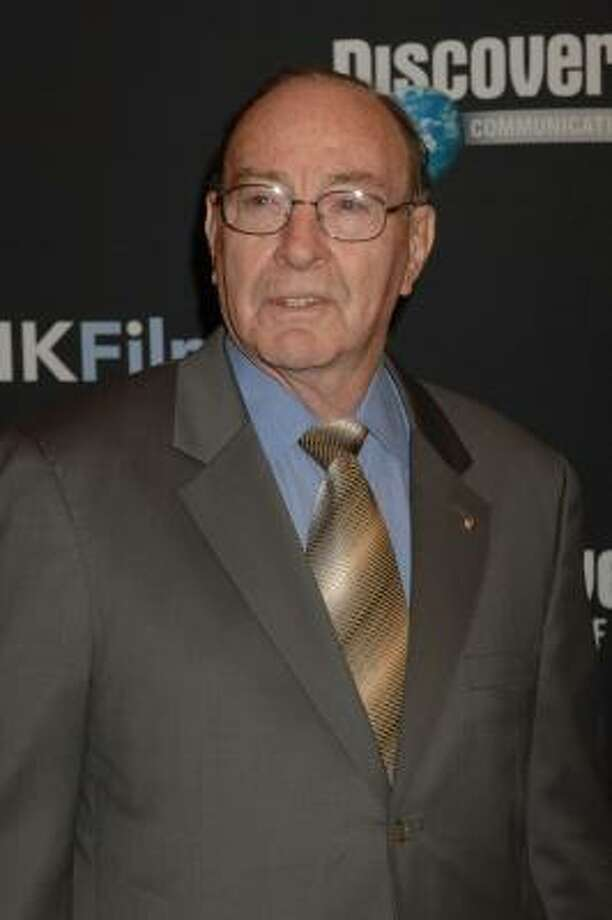 Former NASA astronaut Edgar Mitchell believes peace-loving aliens prevented nuclear war. Mitchell was the sixth man to walk on the moon. Photo: Henny Ray Abrams, AP