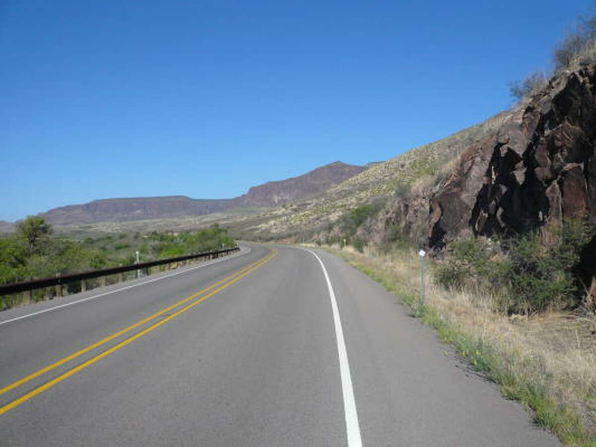 On a Sunday morning, Texas 17 from Balmorhea to Fort Davis is a long, lonely road.