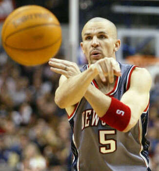 """JASON KIDD: The New Jersey Nets guard mentioned his 28-0 record in international play during a meeting with U.S. teammates in July. """"Nobody laughed,"""" Carmelo Anthony told the New York Times. """"You can't laugh at a fact."""" Photo: DONNA MCWILLIAM, AP"""
