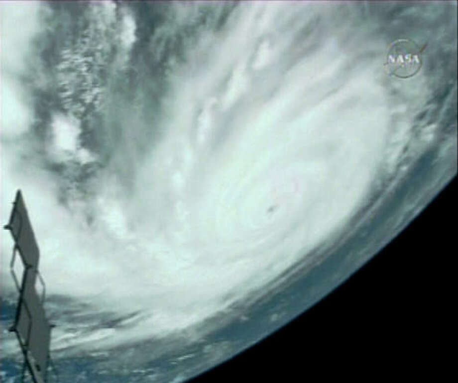 Another view of Hurricane Dean, as seen from the international space station on Saturday. The image is taken from NASA TV. Photo: AP