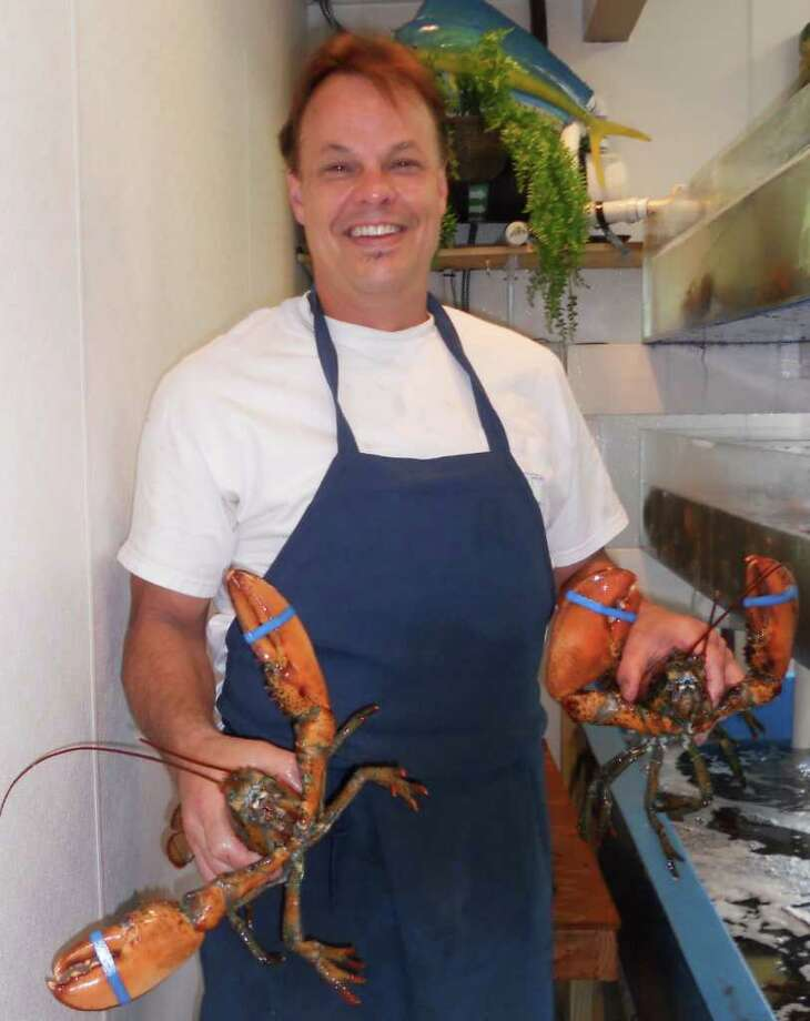 Gary Swanson Shows Off Maine Lobsters At S Fish Market On Black Rock Turnpike In