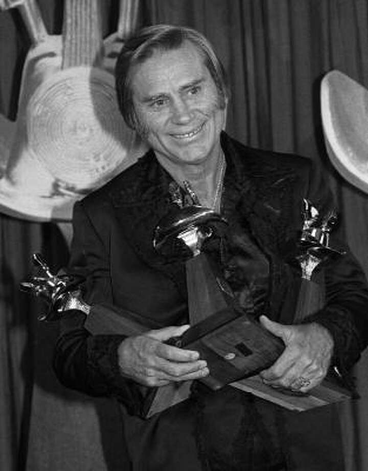 George Jones received three awards during the 16th Annual Country Music Awards in May of 1981. Photo: AP