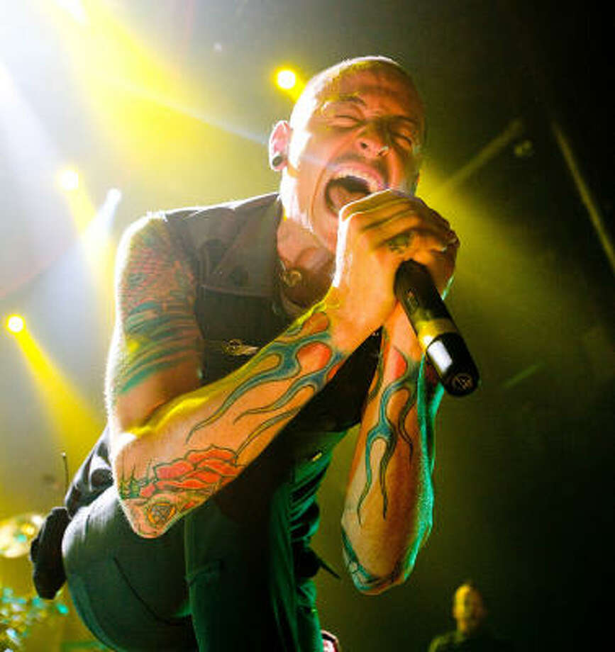 Linkin Park will be this year's rock band to prove these shows aren't all pop and fluff.  Photo: Bob Levey, For The Chronicle