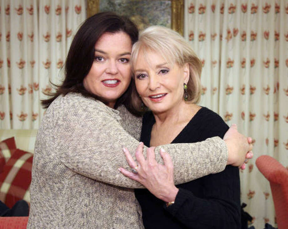 Remeber when Rosie O'Donnell and Barbara Walters were still gal pals? Photo: ABC, Getty Images