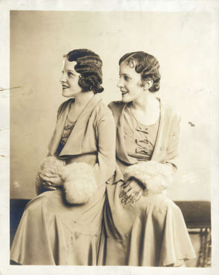 The real Daisy and Violet Hilton, conjoined twins, are shown in a 1933 photo. Photo: Chronicle File