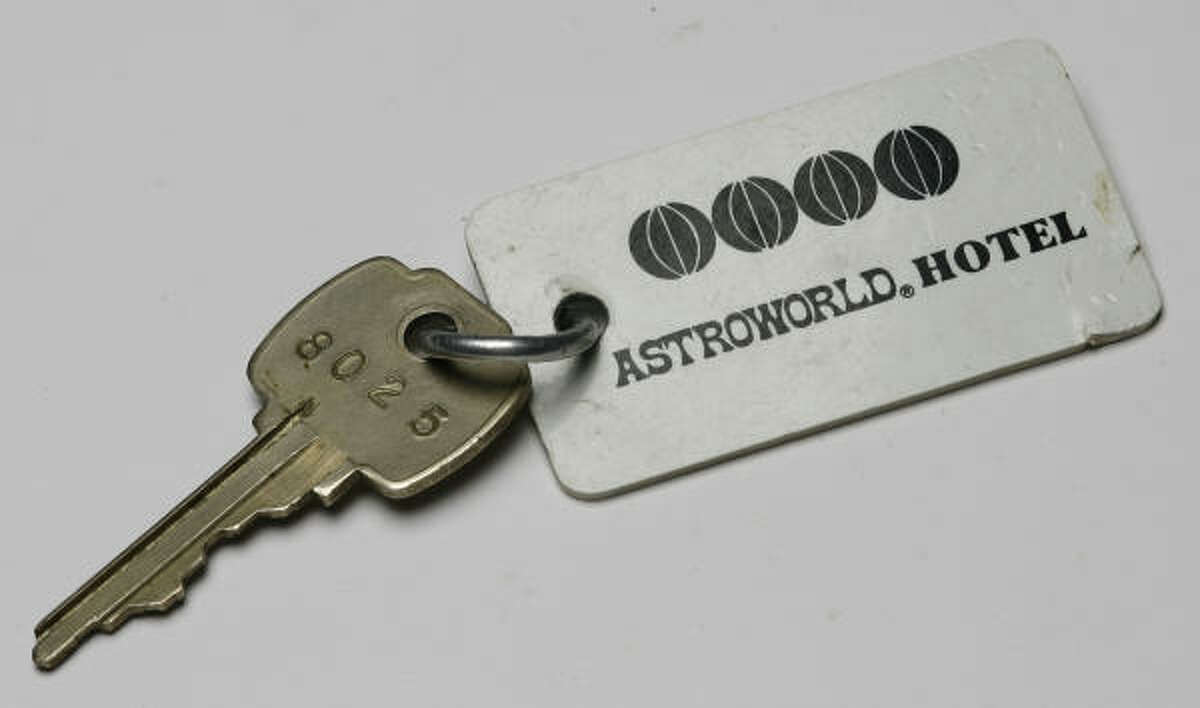 A suite key would get you into to the AstroWorld Hotel.