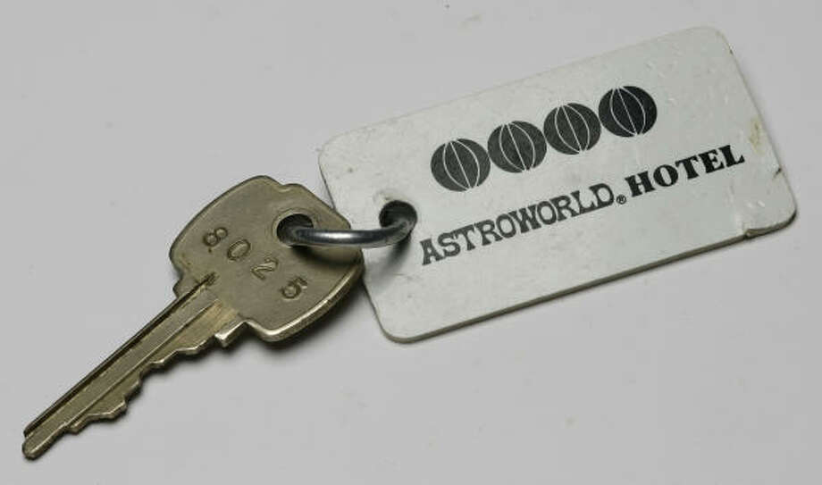 A suite key would get you into to the AstroWorld Hotel. Photo: Nick De La Torre, Chronicle