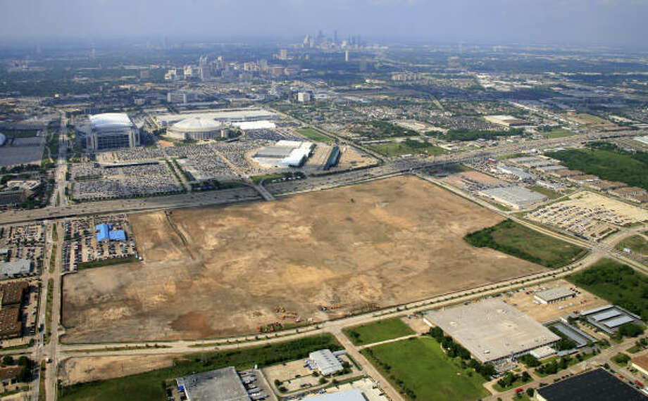 Aerial photo of the AstroWorld site after it was razed. Photo: For The Chronicle