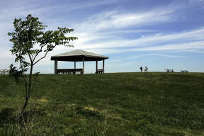 Spectacle Island has a swimming beach and five miles of walking trails dotted with gazebos.