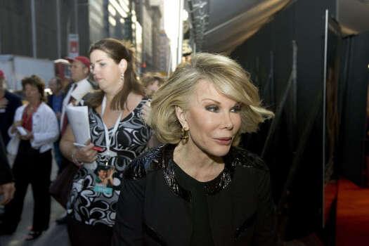 Joan Rivers Photo: STEPHEN CHERNIN, Associated Press