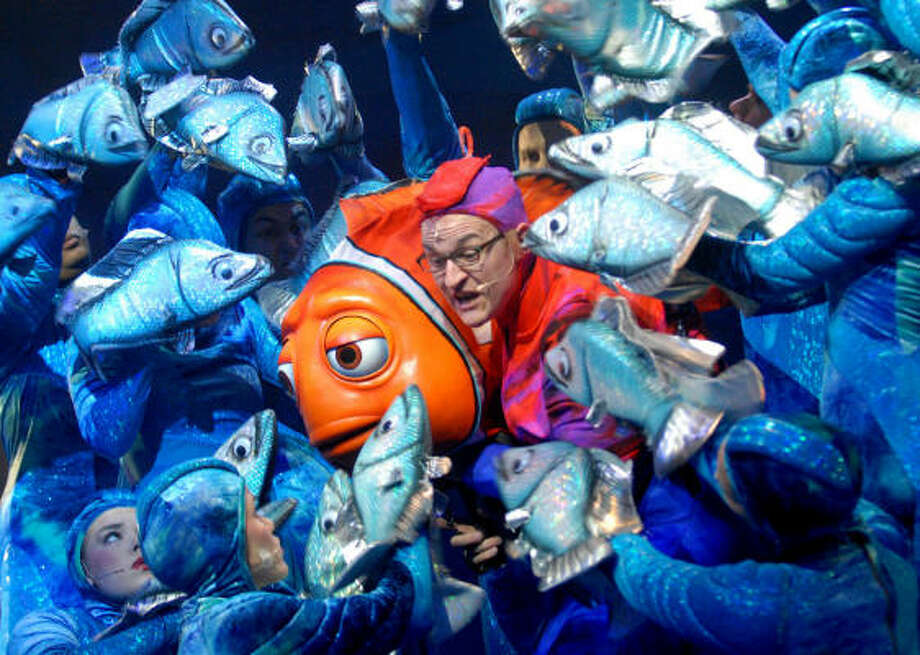 Actors perform in Finding Nemo — the Musical, which debuted in 2006 at Animal Kingdom. Photo: Phelan M. Ebenhack, Associated Press
