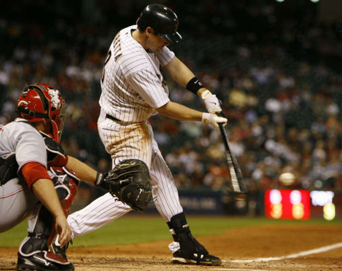 The Astros' Mark Loretta recorded his third four-hit game of the year.