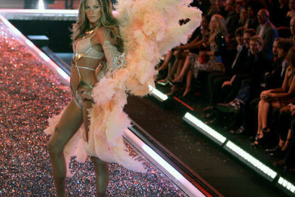 Gisele Bundchen walks down the runway during the Victoria's Secret fashion show, Nov. 16, 2006, in Los Angeles.