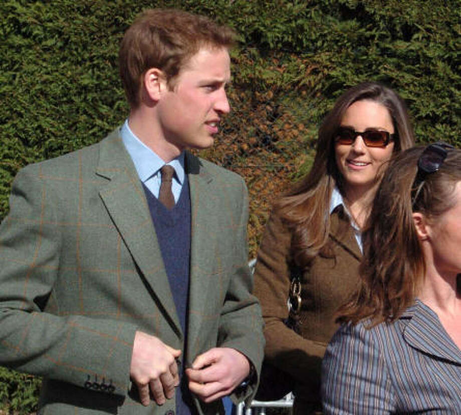 Prince William and Kate Middleton arrive for the first day of horse racing at the Cheltenham Festival, in Cheltenham, England, March 13. Photo: Barry Batchelor, Associated Press