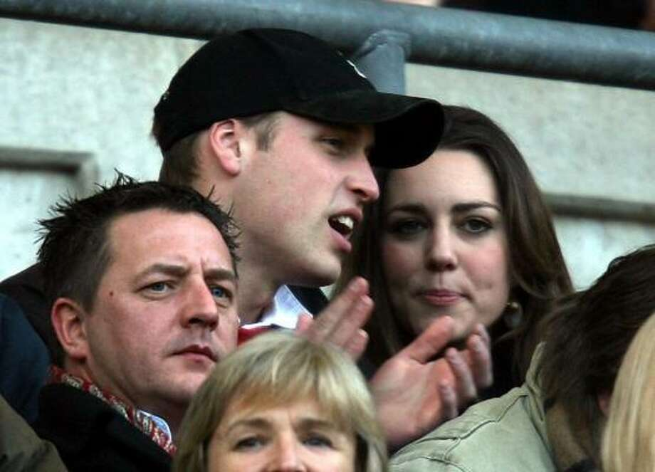 Prince William and Kate Middleton watch a rugby game in Twickenham, England, Feb. 10. Photo: David Davies, Associated Press
