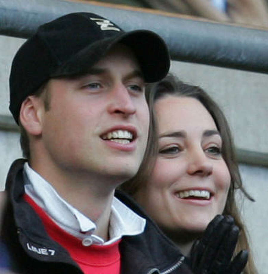 Prince William and Kate Middleton watch a rugby game in Twickenham, England, Feb. 10. Photo: ALASTAIR GRANT, Associated Press