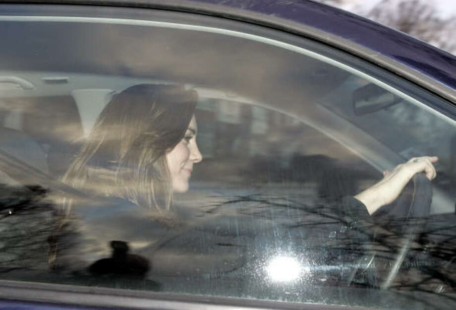 Kate Middleton arrives at her job in London on her 25th birthday, Jan. 9. Photo: LEFTERIS PITARAKIS, Associated Press