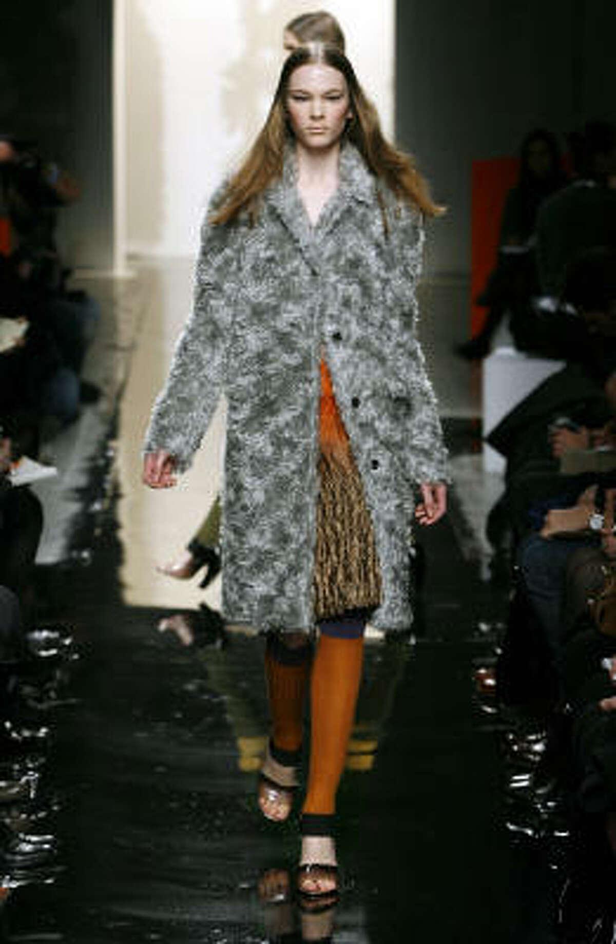 Prada used mohair in her fall 2007 runway show in Paris.