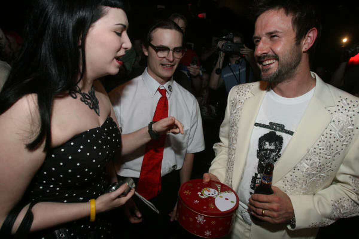 David Arquette, right, is shown Tuesday night at The Proletariat.