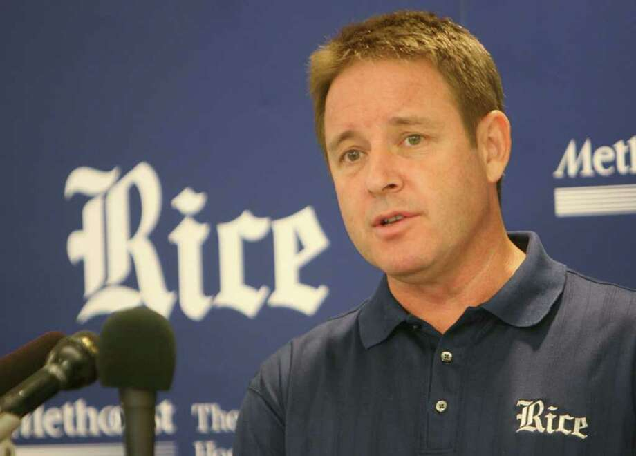 Ben Braun, Men's basketball coach, addresses the media at the Tudor Fieldhouse on the Rice University campus on Monday, Nov. 10, 2008, in Houston. ( Mayra Beltran / Houston Chronicle ) Photo: Mayra Beltran, Staff / Houston Chronicle