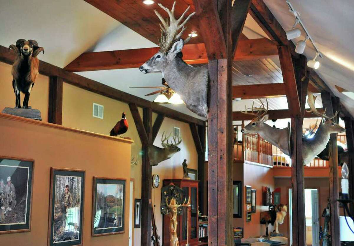 Interior of the lodge at Easton View Outfitters in Valley Falls Friday. (John Carl D'Annibale / Times Union)