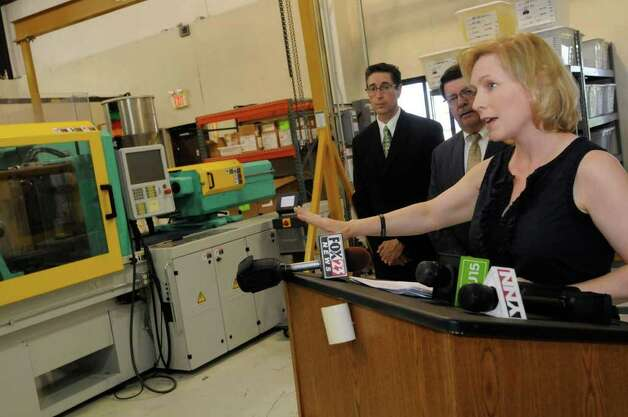 "U.S. Senator Kirsten Gillibrand tours Specialty Silicone Products to announe  ""Made In America"" grant to bolster high-tech manufacturing in Ballston Spa, NY Friday Aug. 12,2011.( Michael P. Farrell/Times Union) Photo: Michael P. Farrell"