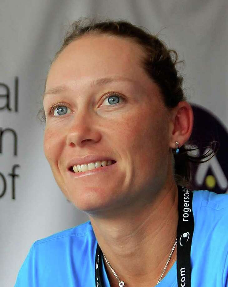TORONTO, ON - AUGUST 09:  Samantha Stosur of Australia signs autographs for fans on Day 2 of the Rogers Cup presented by National Bank at the Rexall Centre on August 9, 2011 in Toronto, Ontario, Canada.  (Photo by Chris Trotman/Getty Images) Photo: Chris Trotman / 2011 Getty Images