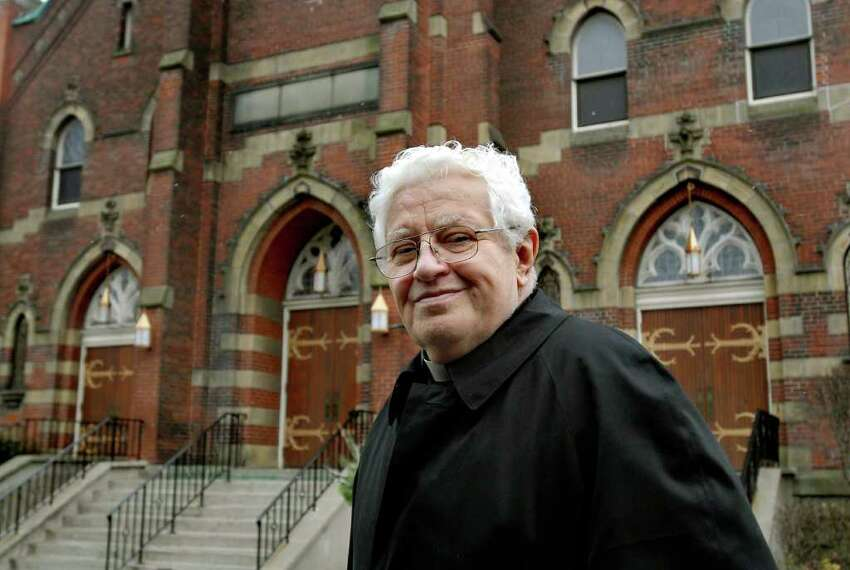 Father Carl Urban talks about the changes in the Mont Pleasant neighborhood at the Church of St. Adalbert on Tuesday, Dec. 1, 2009, in Schenectady, N.Y. Urban has been accused of sexual abuse of a minor for the second time since 2004. (Cindy Schultz / Times Union)