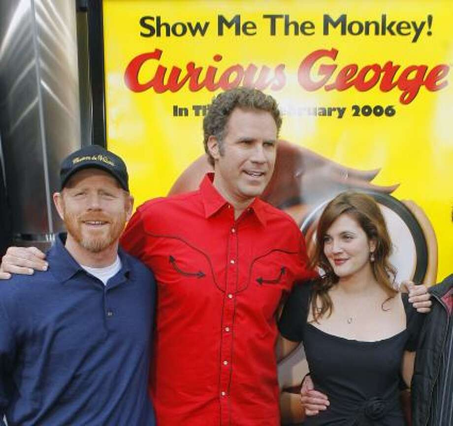 Ron Howard, left, Will Ferrell and Drew Barrymore Photo: LUCAS JACKSON, REUTERS