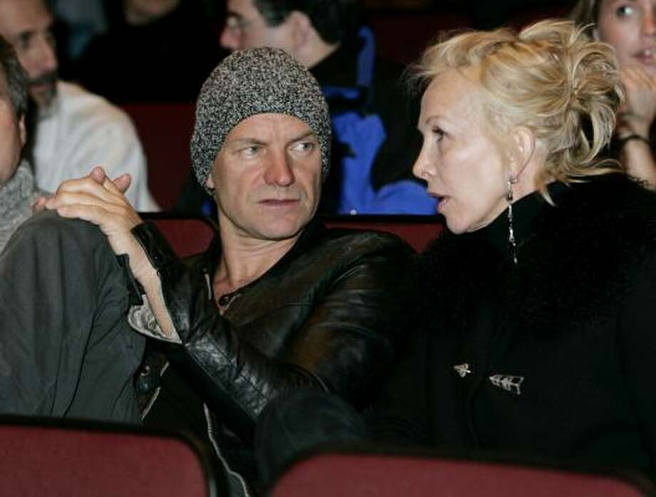 Sting and wife Trudie Styler Photo: CAROLYN KASTER, Associated Press