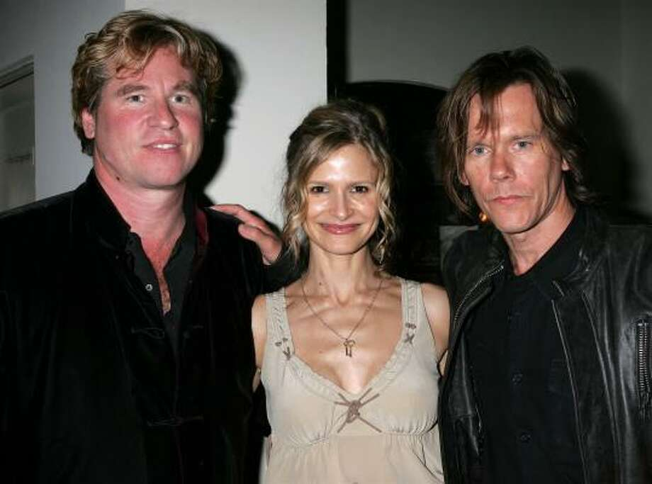 Val Kilmer, left, Kyra Sedgwick and Kevin Bacon Photo: David Livingston, Getty Images