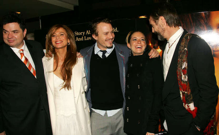 Oliver Platt, from left, Lena Olin, Heath Ledger, Sienna Miller and Jeremy Irons Photo: Evan Agostini, Getty Images