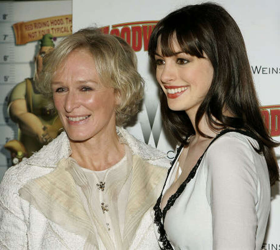 Glenn Close, left, and Anne Hathaway Photo: STEPHEN CHERNIN, AP