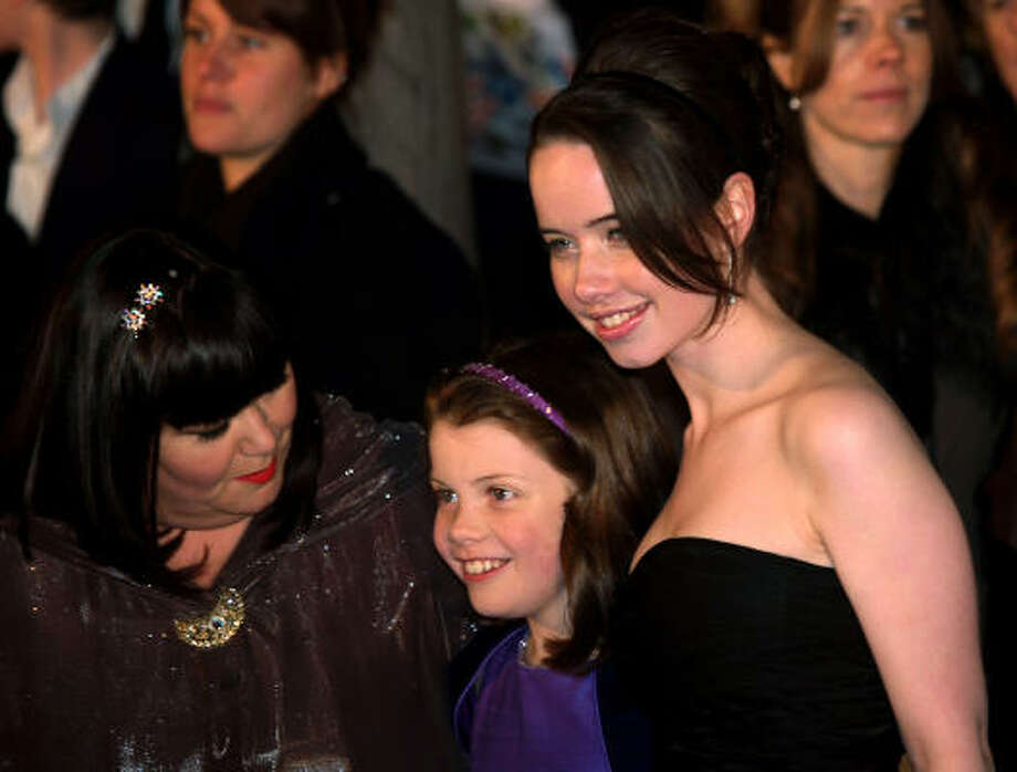 Dawn French, from left, Georgie Henley, and Anna Popplewell Photo: MAX NASH, Associated Press